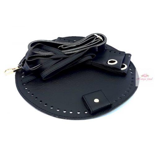 DIY Műbőr táska alap - sötét kék