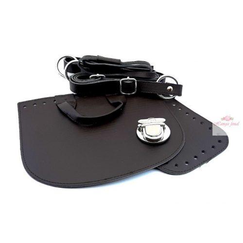 DIY Műbőr táska alap - sötét barna
