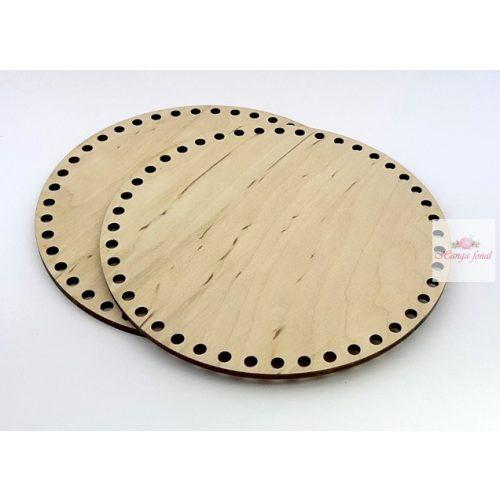 0,5 cm lyuk - Horgolható fa alap KÖR 15 cm rétegelt falemez