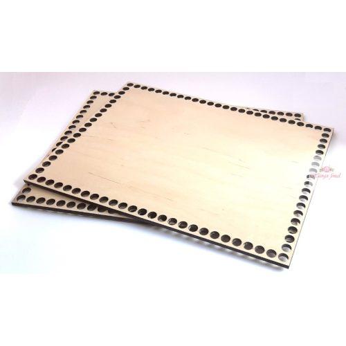 Horgolható fa alap TÉGLALAP 24 x 32,5 cm rétegelt falemez