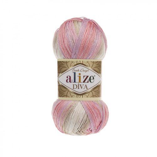 Diva Batik 2807 - bézs, rózsaszín, lila és vaj
