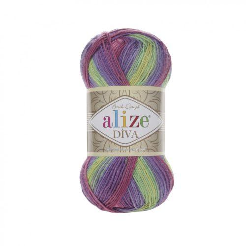 Diva Batik 3241 - lime, málna és lila
