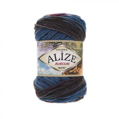 Burcum Batik 4209 - kék, barna, szürke, lila és rozsda