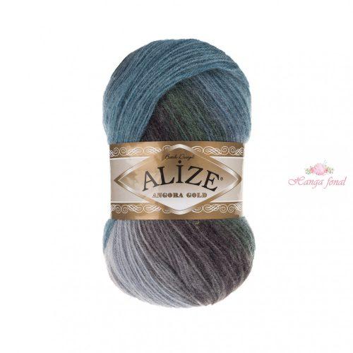 Angora Gold Batik 4239 - kék, zöld és szürke