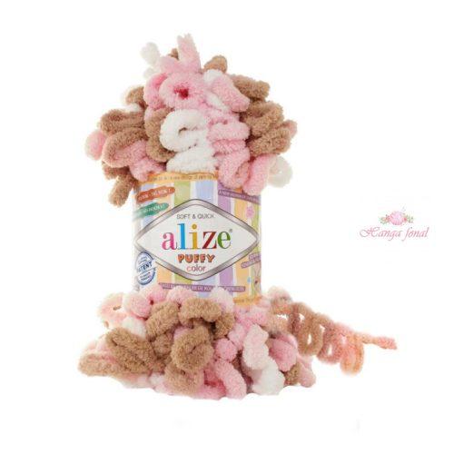 Puffy 6046 - rózsaszín, barna és fehér