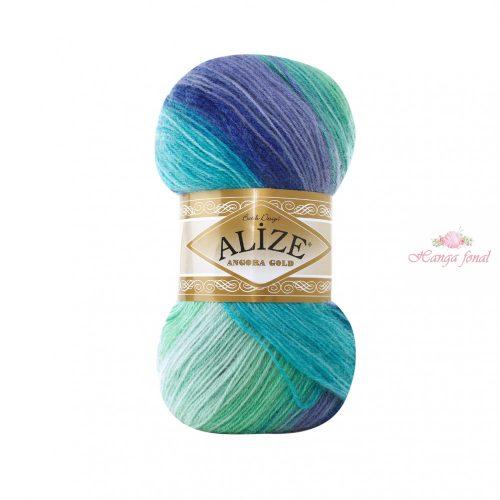 Angora Gold Batik 6277 - türkiz és lila