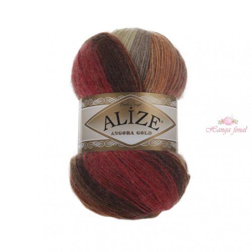 Angora Gold Batik 6283 - barna, piros, szürke és bézs
