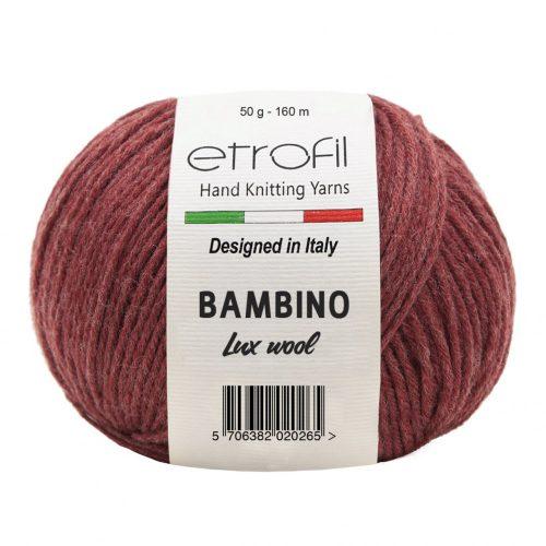 Bambino Lux Wool 70313 - cseresznye melange
