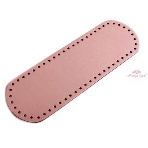 Horgolható táska alap - fáradt rózsaszín