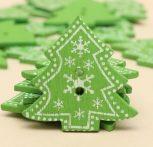 Karácsony mintás gombok